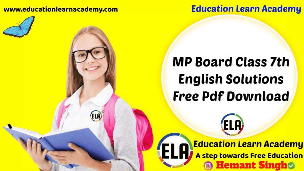 MP Board Class 7th English Solutions General & Special Series