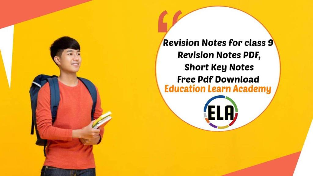 Revision Notes for class 9 Revision Notes PDF