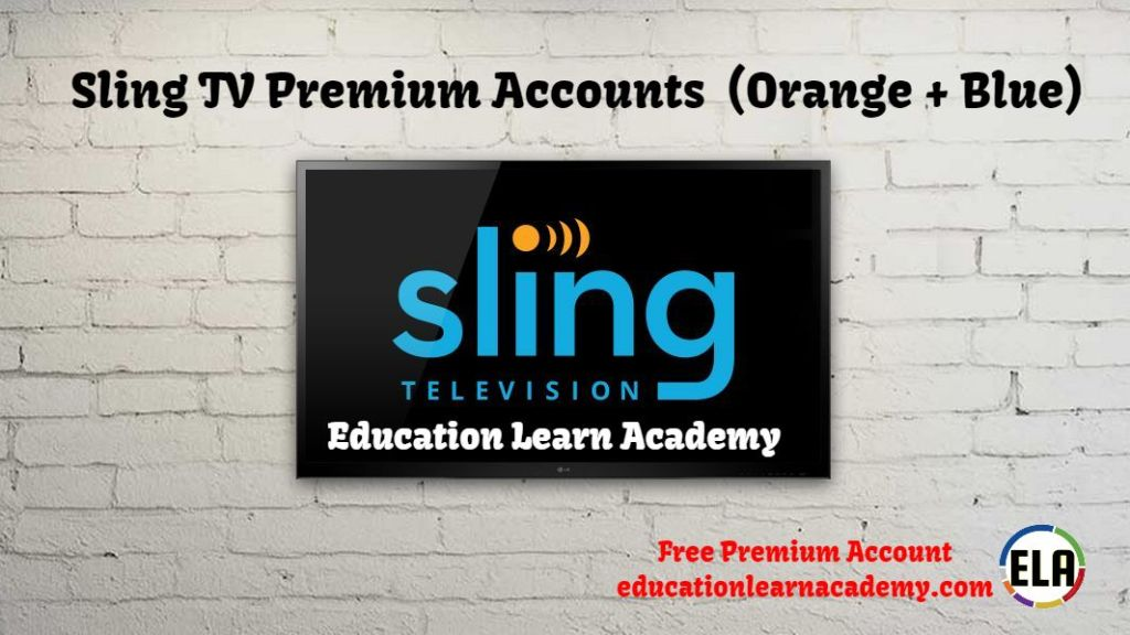 Sling TV Premium Accounts (Orange + Blue)