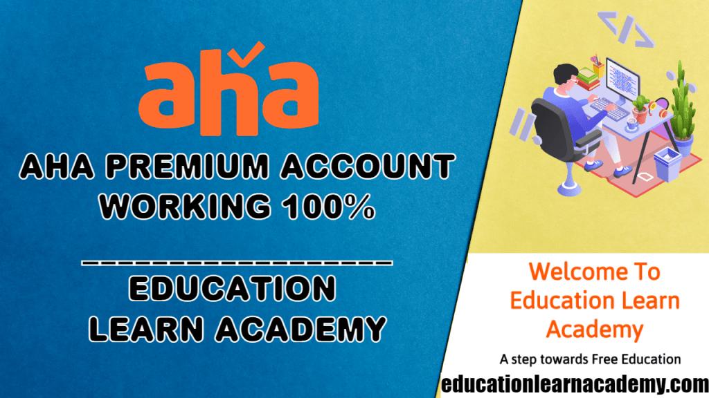 Free Aha Premium Account Email & Password (100% Working)
