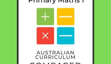 Australian Curriculum and Singapore maths Level 1 comparison