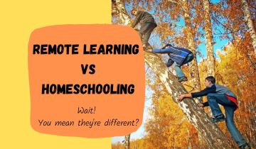Remote learning vs homeschooling