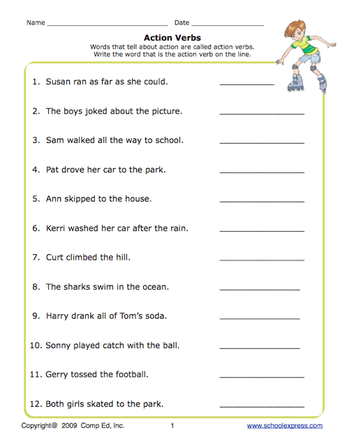 New 898 Verbs Worksheets For High School