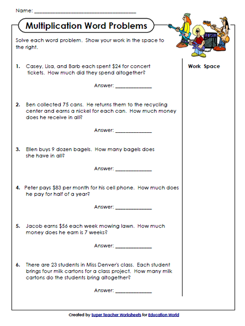 Super Teachers Multiplication Worksheet