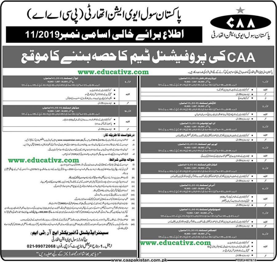 Civil Aviation Authority Jobs 2019