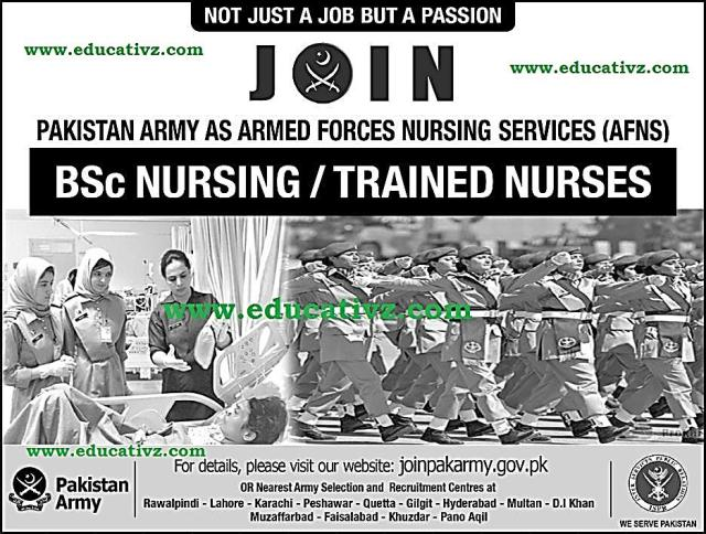 Join Pakistan Army as AFNS Jobs 2019 - Educational Learning