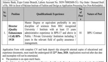 Application Form Of Pakistan Institute Of Fashion And Design Admissions 2020 Lahore Latest Punjab Educativz