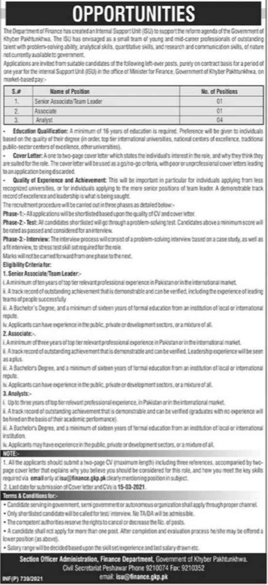 Latest Govt Jobs 2021 in Peshawar, Khyber Pakhtunkhwa
