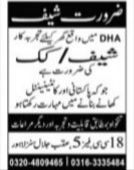 Lahore Jobs 2021 Advertisement in Jang Newspaper Today