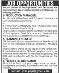 Steel structural Manufacturing Company Jobs Advertisement 2021