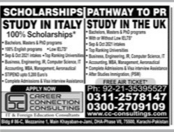Career Connection Consulting(ITALY,UK) Admissions 2021