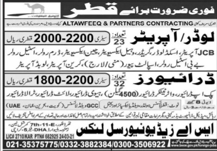 Latest Jobs in Jang Newspaper for Qatar Country