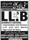 City Law College Admissions Open 2021