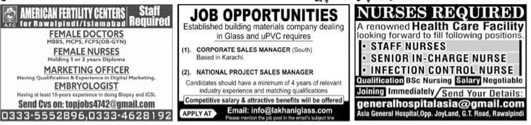 Today Islamabad Jobs April 2021 Jang Newspaper