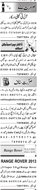 Today Jang Jobs April 2021 Classified Jobs Adv