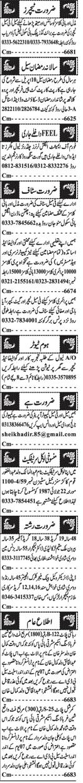 Jang Classified Jobs April 2021 Advrts