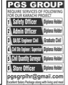 Karachi Jobs 2021 For Safety & Admin Officer, Engineer & Others Latest