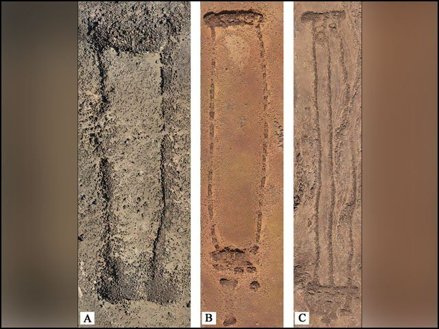 Mysterious archeology from the pyramids of Egypt in Saudi Arabia ... Rectangle