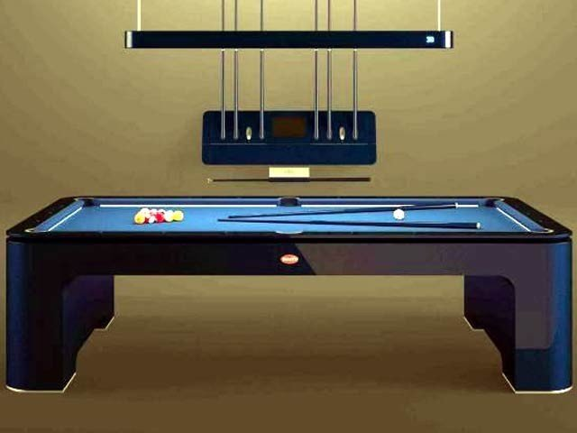 Self-leveling snooker table, price Rs. 50 million