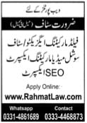Web portals Required staff Male&Females jobs 2021