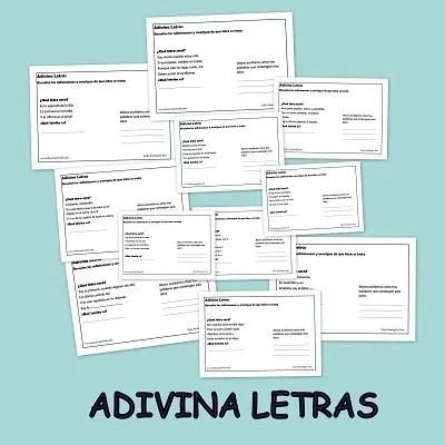 Adivina las letras Fichas didácticas: Adivina las letras. Primera parte