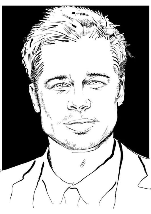 Dibujo Para Colorear Brad Pitt Img 24686
