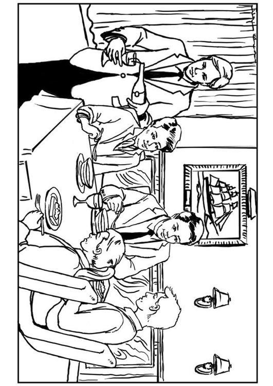 dibujo para colorear restaurante  img 34