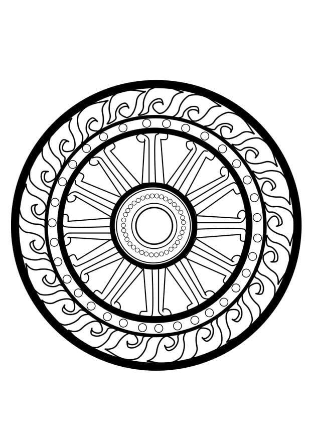 Dibujo Para Colorear Rueda Dharma Img 25627