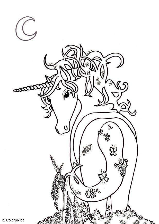 3 más dibujos infantiles para colorear. Dibujo para colorear Unicornio - Img 5681