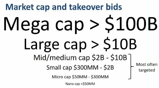 Market Cap and Takeover Bids-
