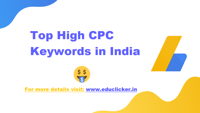Top High CPC Keywords in India