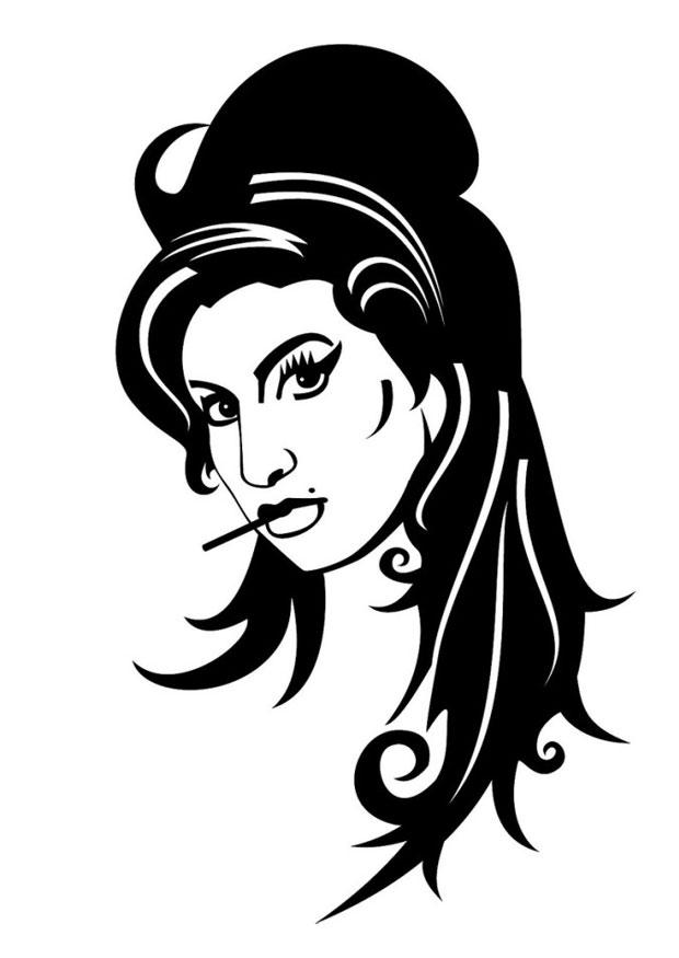 Coloriage Amy Winehouse Img 24677