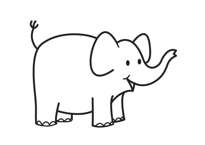 Coloriage Elephant Simple.And Cage Elephant Simple Plan