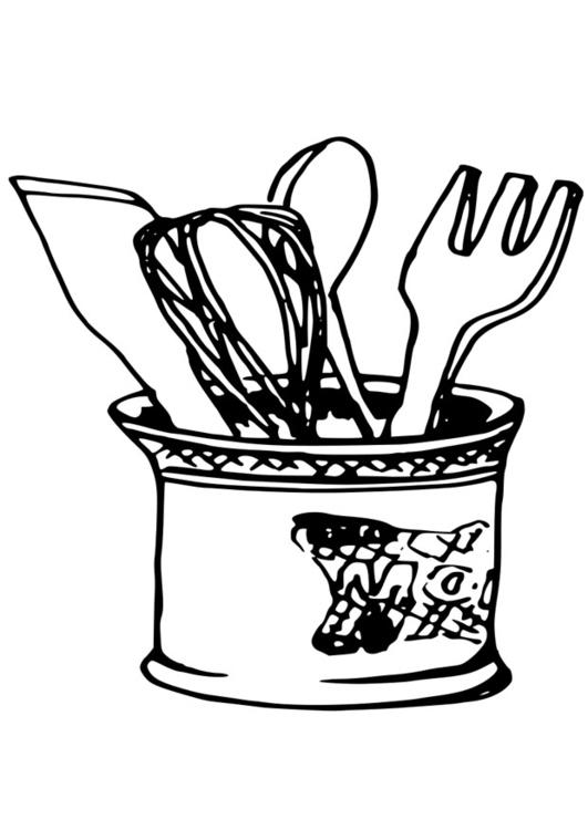 coloriage ustensiles de cuisine