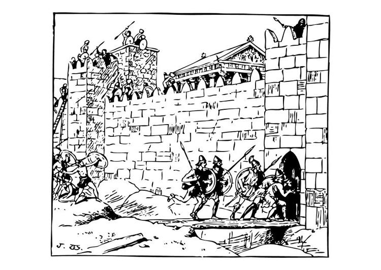 Disegno Da Colorare Attacco Al Castello Cat 10667