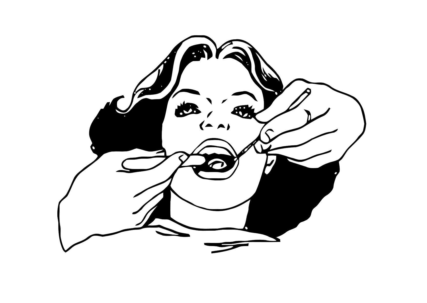 Disegno Da Colorare Vista Dal Dentista