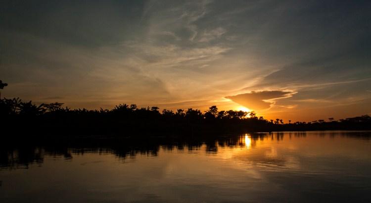 Sun down Magdalena River, Magdalena, Colombia