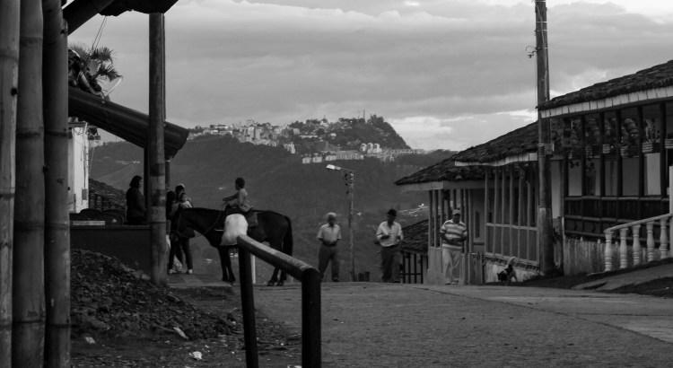 Afternoon at the village Pueblo Bonito, Caldas, Colombia