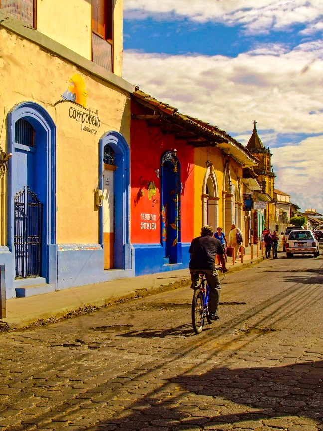 City streets Leon City. Leon, Nicaragua