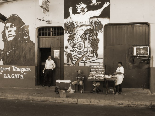 Commemorative mural Historical Centre Lon City. Leon, Nicaragua