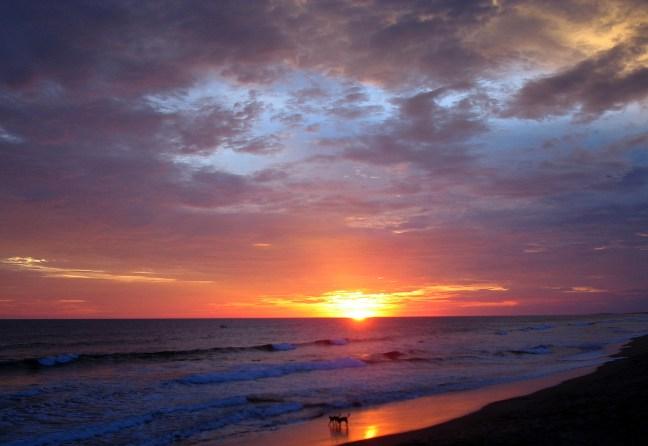 Sunset at Poneloya Beach Poneloya, Leon, Nicaragua