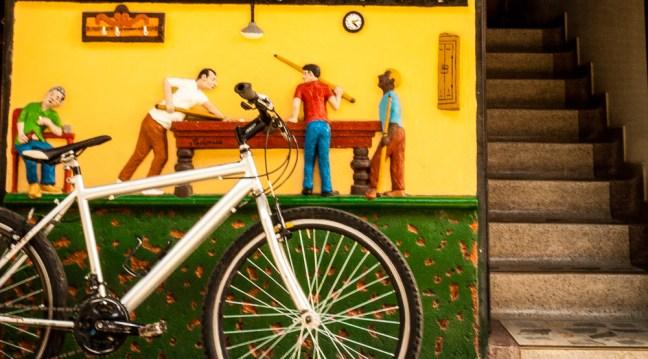 Bicycle Guatape, Antioquia. Colombia