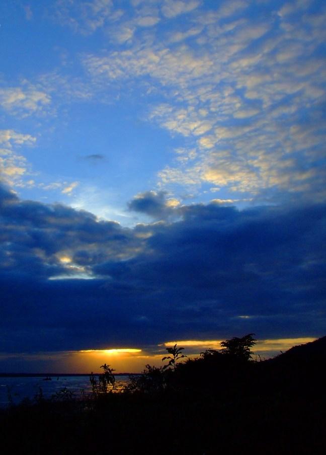 Sunset at the Sacred Lake Peten Itzá, El Petén, Guatemala