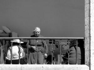 En el balcón Plaza de Armas ciudad de Arequipa, Arequipa, Perú