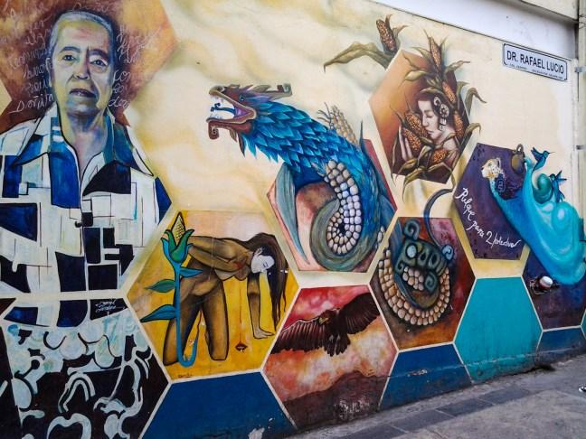 Paredes del mercado Xalapa, Veracruz, México