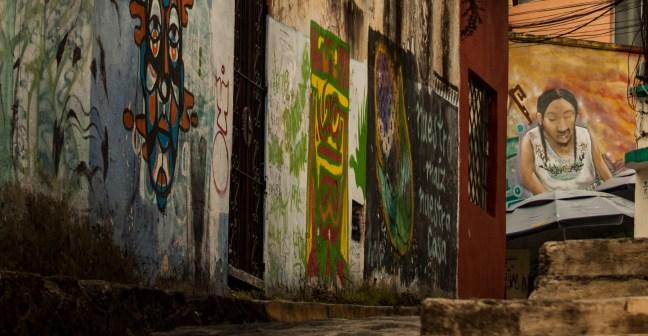 El callejón Calles de Xalapa, Veracruz, México