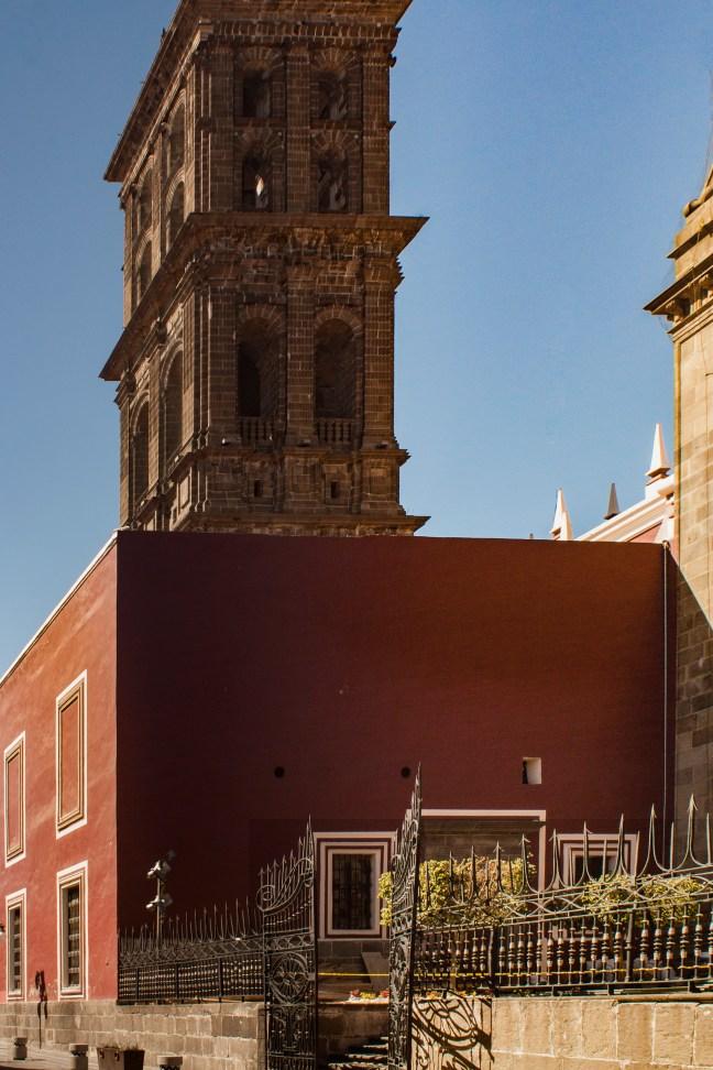 El patio centro histórico de Püebla, Puebla, México