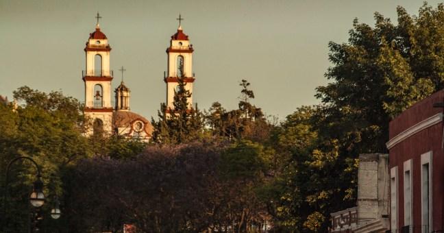 Las torres de la iglesia Puebla, Puebla, México