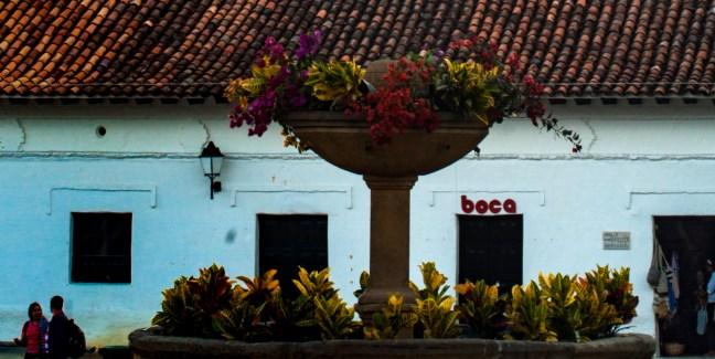 La fuente Villa de Leyva, Boyacá, Colombia