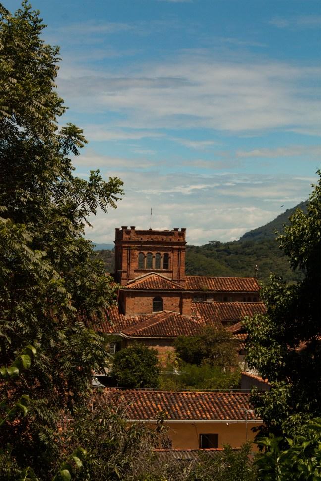 Vista del pueblo Guarne, Santander, Colombia